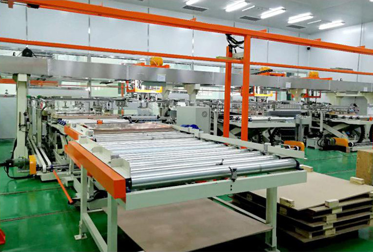 Automatic floding line